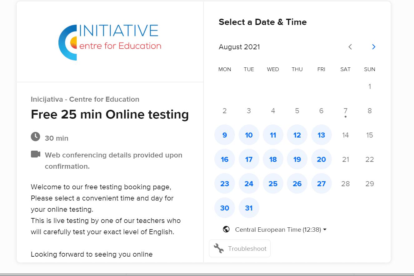 Student booking scheduler